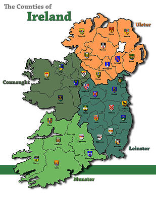 Connaught Painting - The Counties Of Ireland by Michael Lee