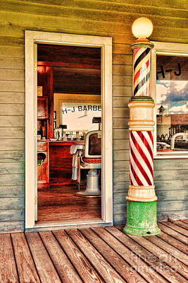 Barberchair Photograph - The Country Barber by Paul Ward