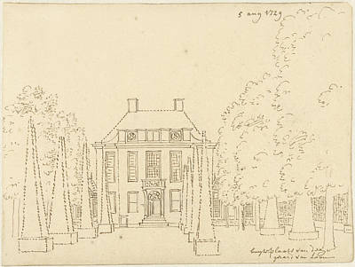 Loon Drawing - The Country Estate Of Gerard Van Loon Front View by Quint Lox