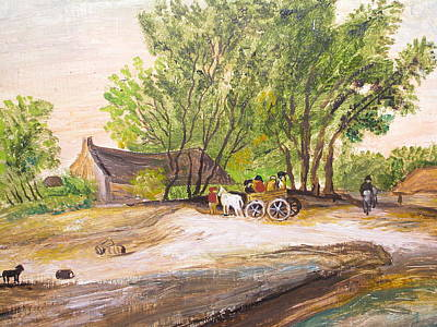 Painting - The Country Life by Egidio Graziani
