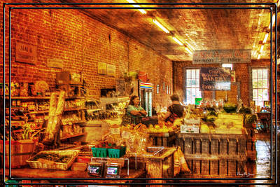 Photograph - Produce - Bake Goods - Groceries - The Country Store by Barry Jones
