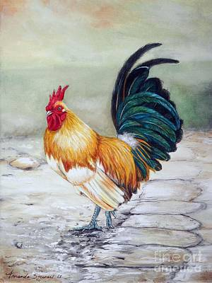 Hens And Chicks Painting - The Countryman by Amanda Hukill