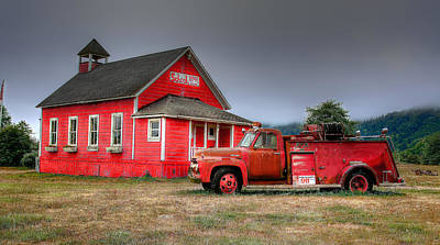 Little Red School House Photograph - The Countryside by Richard J Cassato