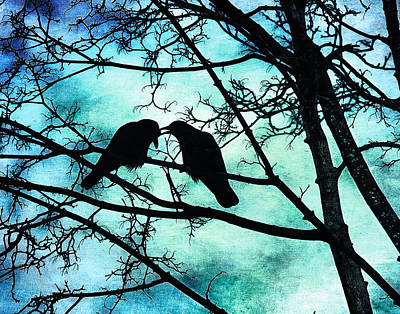 Photograph - The Courtship Of Crows by Tammy Wetzel