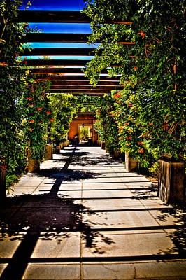 Photograph - The Courtyard Walkway At Hotel Albuquerque by David Patterson