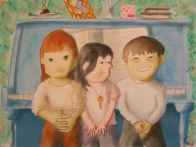Trio Art Print by Michelle Berger