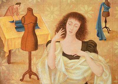 Seamstress Painting - The Couturiers, 1996 by Patricia O'Brien