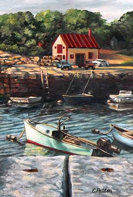 The Cove Art Print by Eileen Patten Oliver