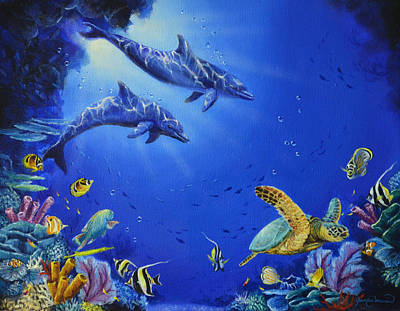 Wyland Painting - The Cove by James Corwin