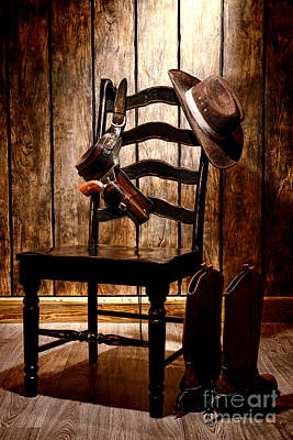 Photograph - The Cowboy Chair by Olivier Le Queinec