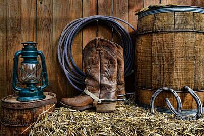 The Cowboy Art Print by Paul Ward