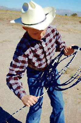 Photograph - The Cowboy by Tamyra Crossley