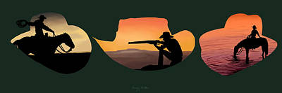Nature Art Painting - The Cowboy Way by Brien Miller