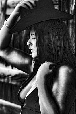 Partial Nude Photograph - The Cowgirl by Denise Teague
