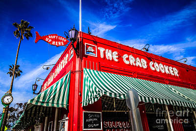 Business Photograph - The Crab Cooker Newport Beach Photo by Paul Velgos