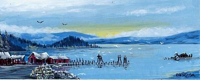 Washington State Skagit County Painting - The Crab Shack by Bob Patterson
