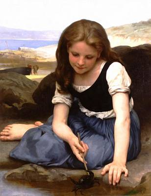 Digital Art - The Crab by William Bouguereau