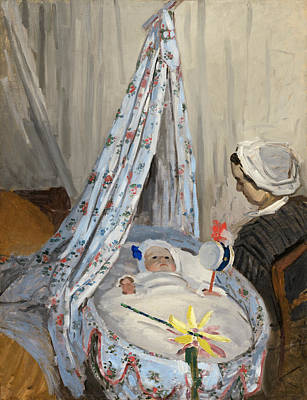 Innocence Painting - The Cradle by Claude Monet