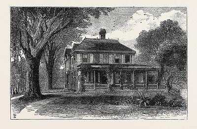 The Craigie House, Cambridge, Massachusetts Art Print by English School