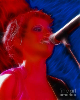 Dolores Digital Art - The Cranberries-dolores-2-fractal by Gary Gingrich Galleries