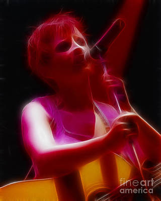 Dolores Digital Art - The Cranberries-dolores-3-fractal by Gary Gingrich Galleries