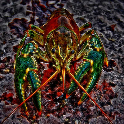 Digital Art - The Crawdad Digital Art by Ernie Echols