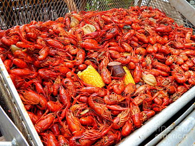 Photograph - The Crawfish Boil In New Orleans Louisiana by Michael Hoard