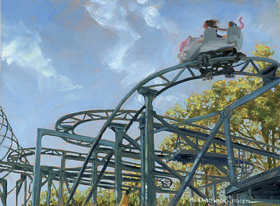 Roller Coaster Painting - The Crazy Mouse by Marguerite Chadwick-Juner