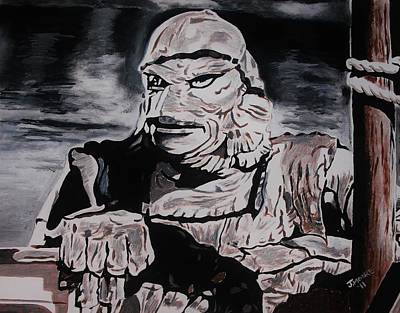 Universal Monsters Mixed Media - The Creature From The Black Lagoon by Jeremy Moore