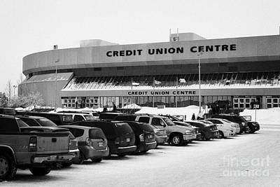 the credit union center Saskatoon Saskatchewan Canada Art Print by Joe Fox