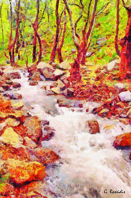 Plants Painting - The Creek by George Rossidis