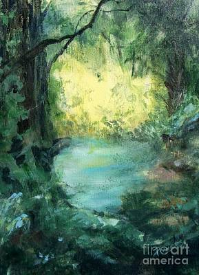 Art Print featuring the painting The Creek by Mary Lynne Powers