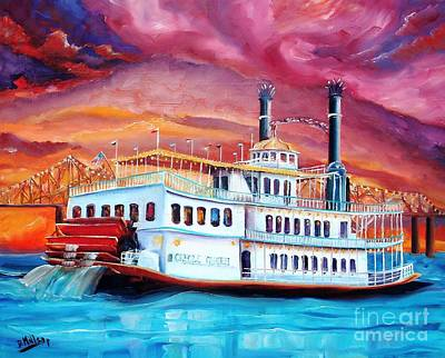 Mississippi River Painting - The Creole Queen by Diane Millsap