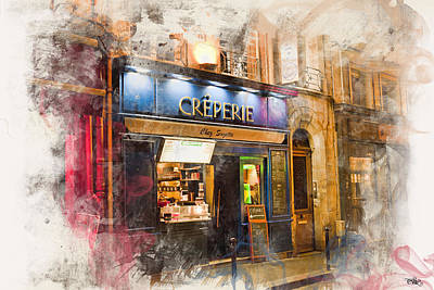 Persian Carpet Photograph - The Creperie by Evie Carrier