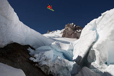 Mt Hood Photograph - The Crevasse by Kevin Westenbarger