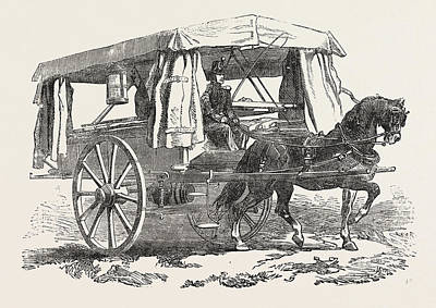 The Crimean War Ambulance For The Wounded 1854 Art Print