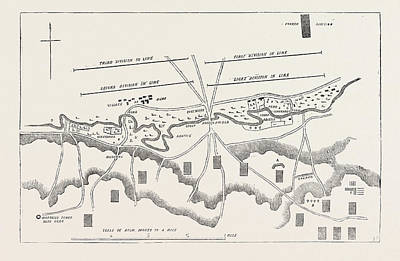 Alma Drawing - The Crimean War Official Plan Of The Battle Of The Alma by English School