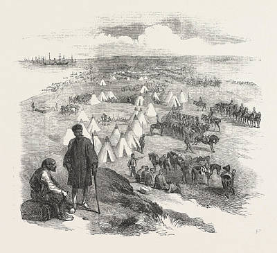 Alma Drawing - The Crimean War The Battle On The Alma English Encampment by English School