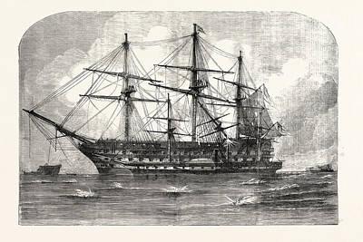 The Crimean War The Trafalgar And Retribution At The Siege Art Print by English School