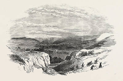 Vale Drawing - The Crimean War Vale Leading To Inkerman 1854 by English School