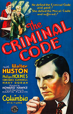 The Criminal Code, Us Poster Art Art Print