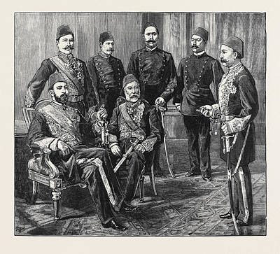 Crisis Drawing - The Crisis In Egypt The Khedive And Some Leaders by Egyptian School