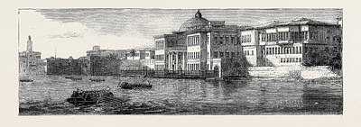 Crisis Drawing - The Crisis In Egypt The Ras-el-tin Palace At Alexandria by Egyptian School