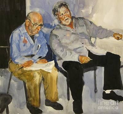 Painting - The Critique by Elizabeth Carr