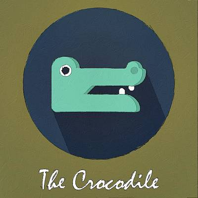 Painting - The Crocodile Cute Portrait by Florian Rodarte