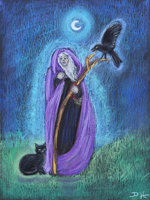 Pastel - The Crone by Diana Haronis