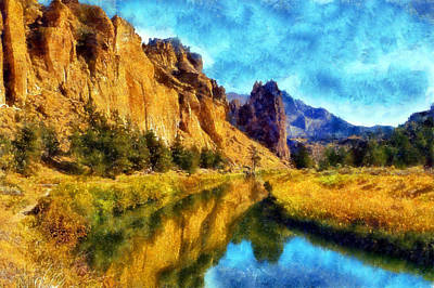 Digital Art - The Crooked River by Kaylee Mason