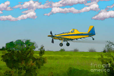 Mixed Media - The Crop Duster by E B Schmidt