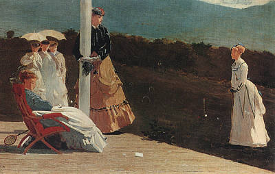 Indies Painting - The Croquet Match by Celestial Images