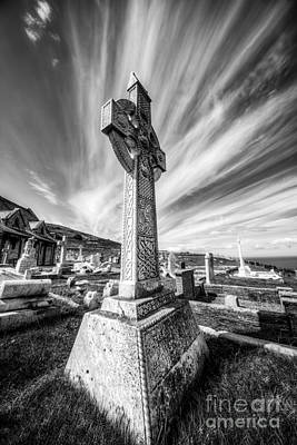 Grave Yard Photograph - The Cross by Adrian Evans